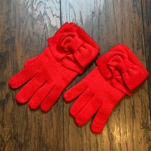 Kate Spade Red Bow Gloves
